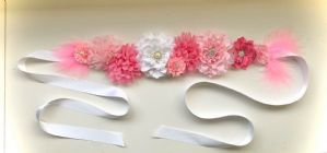 Pink Maternity sash gender reveal party baby shower gift baby mum to be photo shoot